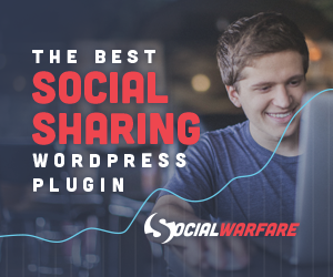 How To Build A Photography Website with WordPress: The Social Warfare Pro plugin makes social sharing easier than ever.