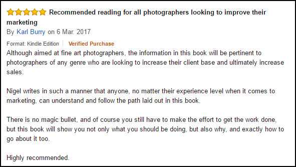 An Amazon review of Selling Fine Art Photography