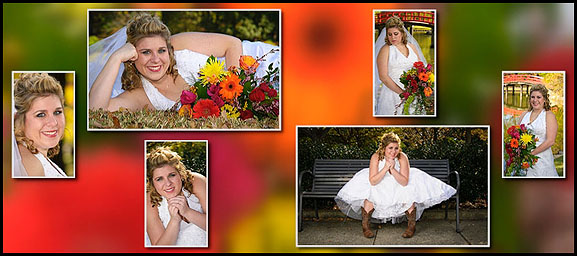 Bridal portraits from a very happy client - no Bridezillas or difficult photography clients here!