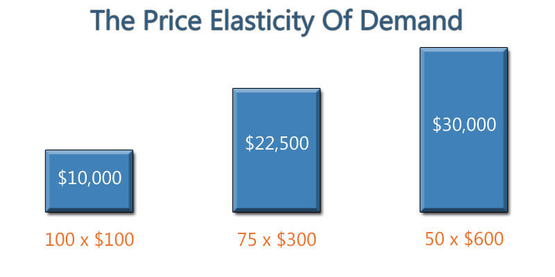 3 hypothetical scenarios to illustrate the price elasticity of demand in action for a home photography studio...