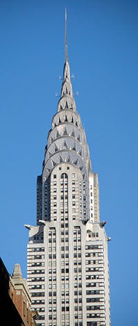 Not the Empire State Building, I know, but another personal favorite, the Chrysler building...