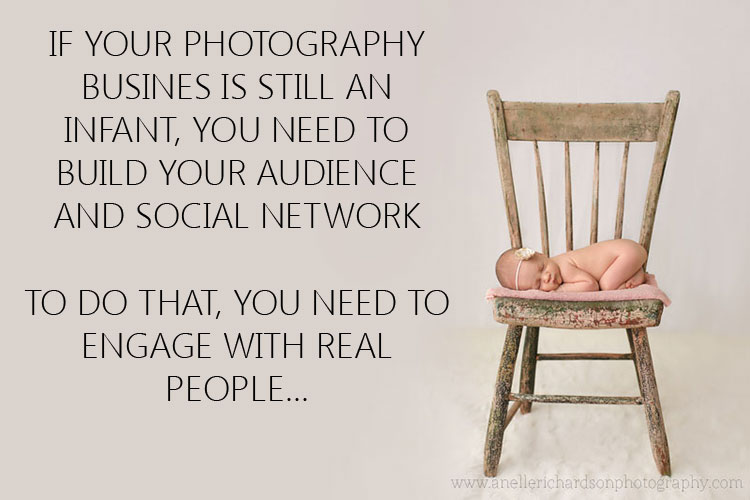 If your photography business is still an infant, you need to build your audience and social network.