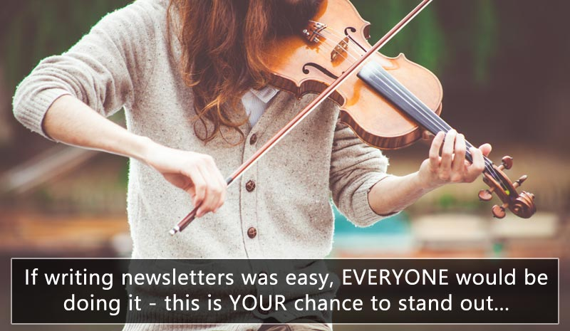 If writing photography newsletters was easy, everyone would be doing it, so this is your chance to stand out from the competition...