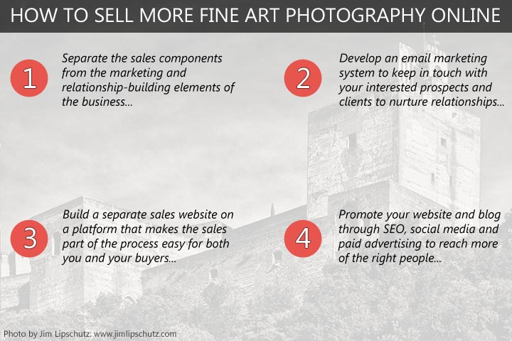 How to sell more fine art photography online - 4 simple steps to more success.