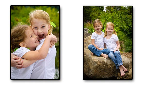 Children's portraiture aimed at capturing smiling faces